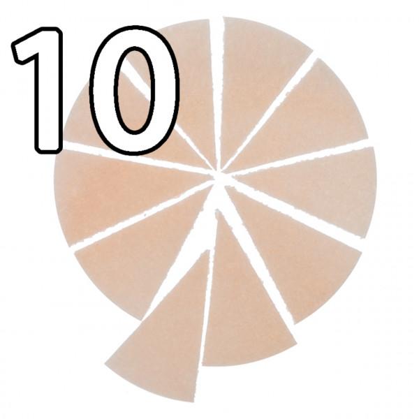 25 Brothostien 15 cm sternförmig vorgeritzt