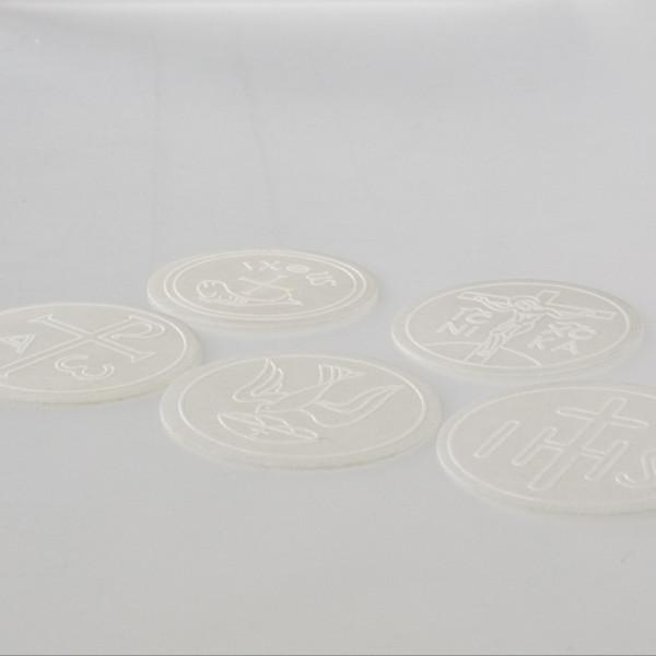 50 weiße Hostien 6,5 cm mit Bild